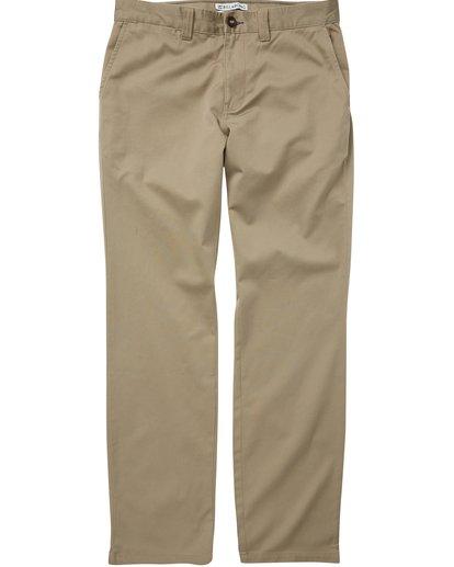 0 Boys' Carter Stretch Chino Pants Green B314QBCS Billabong