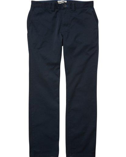 0 Boys' Carter Stretch Chino Pants Blue B314QBCS Billabong
