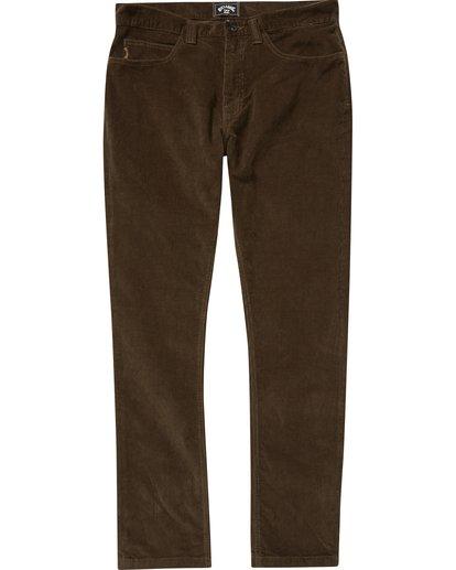 0 Boys' Outsider Cord Pants Brown B316QBOU Billabong