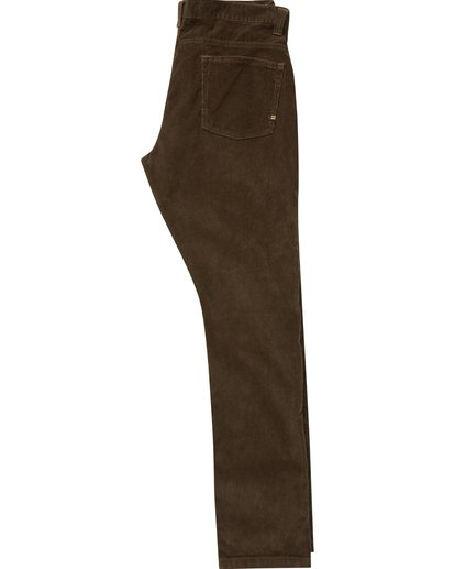 1 Boys' Outsider Cord Pants Brown B316QBOU Billabong
