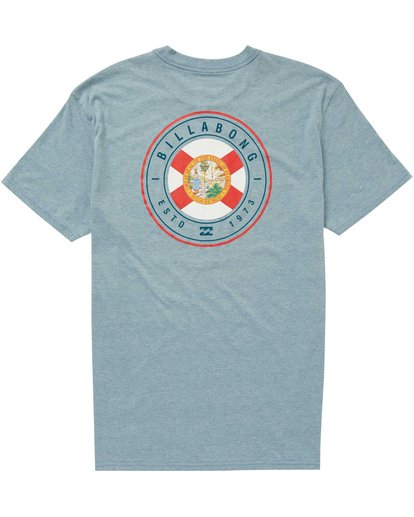 1 Boys' Native Rotor Fl Tee Blue B401NBNF Billabong