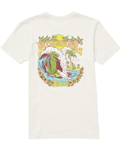 1 Boys' Gator Daze Fl Tee Brown B401QBGD Billabong