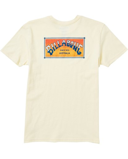1 Boys' Arch Box Tee Shirt Yellow B401SBAB Billabong