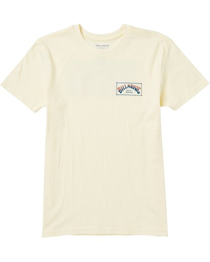 0 Boys' Arch Box Tee Shirt Yellow B401SBAB Billabong