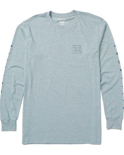 0 Boys' Unity Sleeves Long Sleeve Tee Shirt Blue B405SBUS Billabong