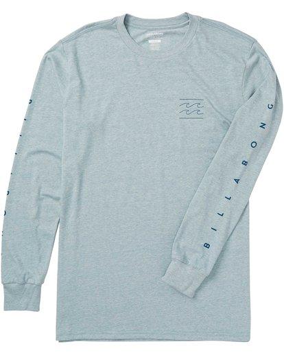 3 Boys' Unity Sleeves Long Sleeve Tee Shirt Blue B405SBUS Billabong