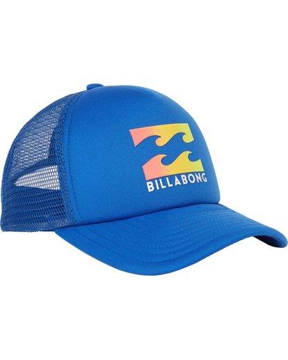 2 Boys' Podium Trucker Hat Blue BAHTGPOD Billabong