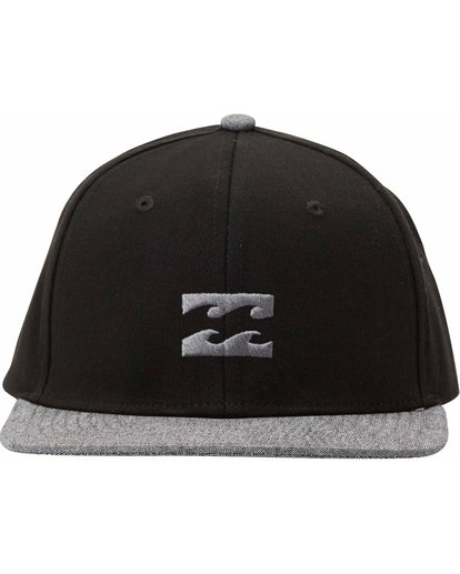 1 Boys' All Day Snapback Hat Black BAHTLADS Billabong