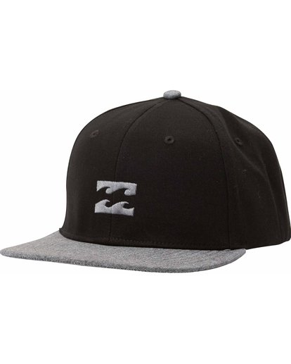 0 Boys' All Day Snapback Hat Black BAHTLADS Billabong