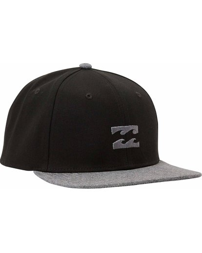 2 Boys' All Day Snapback Hat Black BAHTLADS Billabong