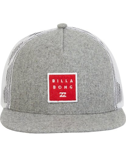 1 Boys' Stacked Trucker Hat Grey BAHWQBST Billabong