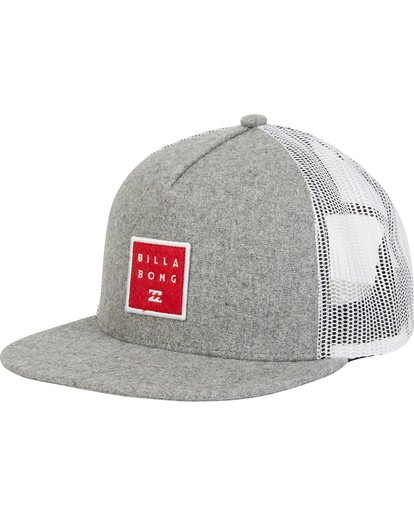 0 Boys' Stacked Trucker Hat Grey BAHWQBST Billabong