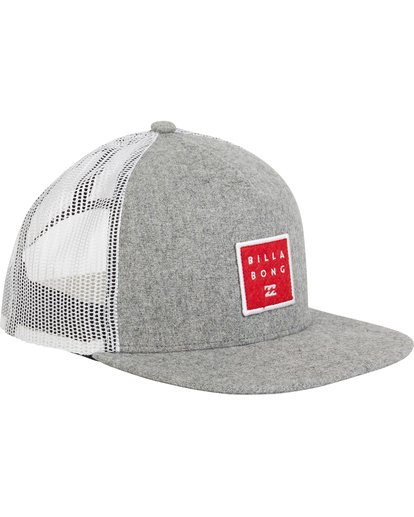2 Boys' Stacked Trucker Hat Grey BAHWQBST Billabong