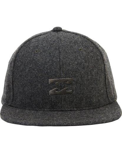 1 Boys' All Day Heather Snap Back Hat Black BAHWSBAH Billabong