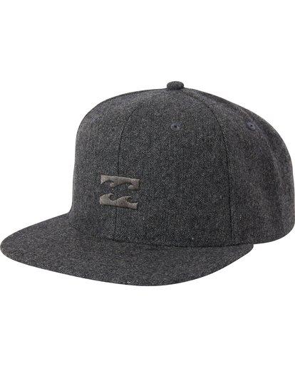 0 Boys' All Day Heather Snap Back Hat Black BAHWSBAH Billabong