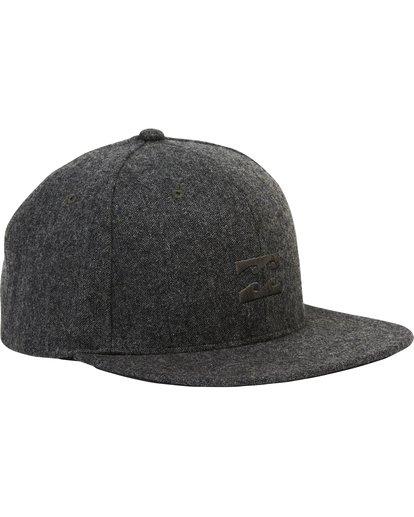 2 Boys' All Day Heather Snap Back Hat Black BAHWSBAH Billabong