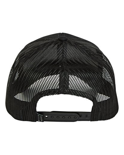 3 Boys' Walled Trucker Hat Black BAHWTBWT Billabong
