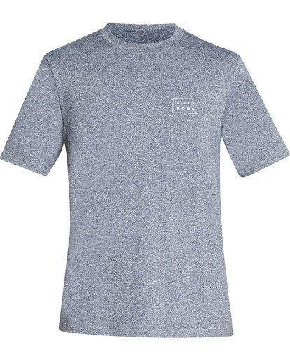 0 Boys Die Cut Loose Fit Short Sleeve Rashguard Grey BR01TBDC Billabong