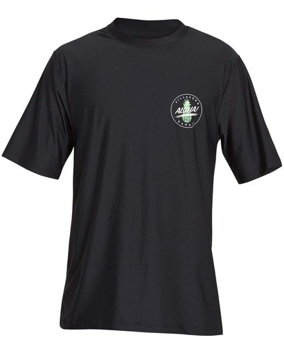 0 Boys' Destination Lf Short Sleeve Rahsguard Black BR02NBDS Billabong