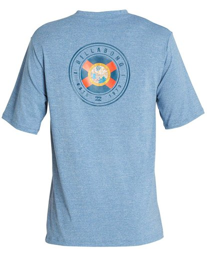 1 Boys' Destination Lf Short Sleeve Rahsguard Blue BR02NBDS Billabong