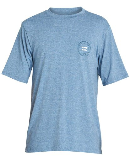 0 Boys' Destination Lf Short Sleeve Rahsguard Blue BR02NBDS Billabong