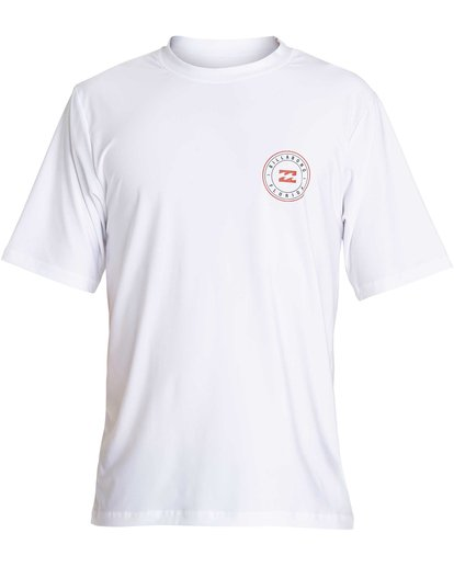 1 Boys' Destination Lf Short Sleeve Rahsguard White BR02NBDS Billabong