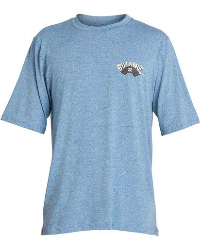 1 Boys' Dicer Loose Fit Short Sleeve Rashguard Blue BR03NBDI Billabong