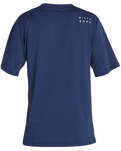1 Boys' All Day Mesh Lf Short Sleeve Rashguard Blue BR04NBML Billabong