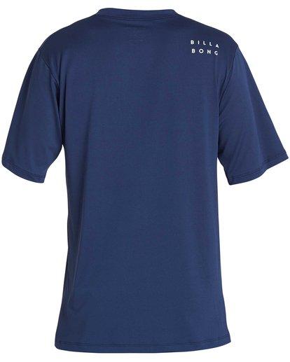 4 Boys' All Day Mesh Lf Short Sleeve Rashguard Blue BR04NBML Billabong