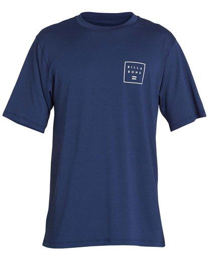 0 Boys' All Day Mesh Lf Short Sleeve Rashguard Blue BR04NBML Billabong