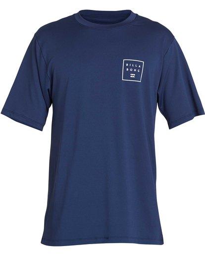 2 Boys' All Day Mesh Lf Short Sleeve Rashguard Blue BR04NBML Billabong