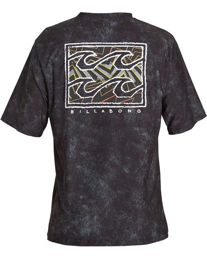 3 Boys' Riot Lf Short Sleeve Rashguard Black BR05NBRL Billabong