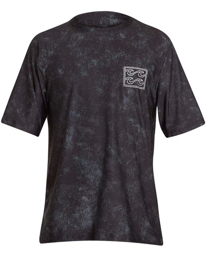 0 Boys' Riot Lf Short Sleeve Rashguard Black BR05NBRL Billabong