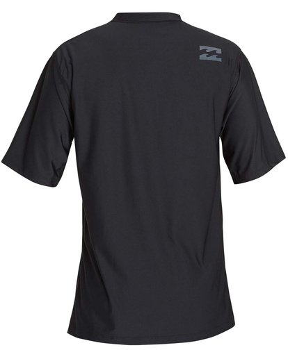 1 Boys' All Day Wave Loose Fit Short Sleeve Rashguard Black BR07NBWL Billabong