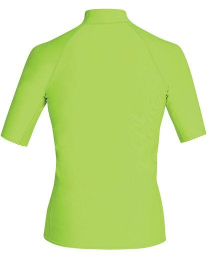 1 Boys' Union Performance Fit Short Sleeve Rashguard Green BR11TBUN Billabong