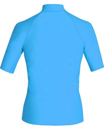 1 Boys' Union Performance Fit Short Sleeve Rashguard Blue BR11TBUN Billabong