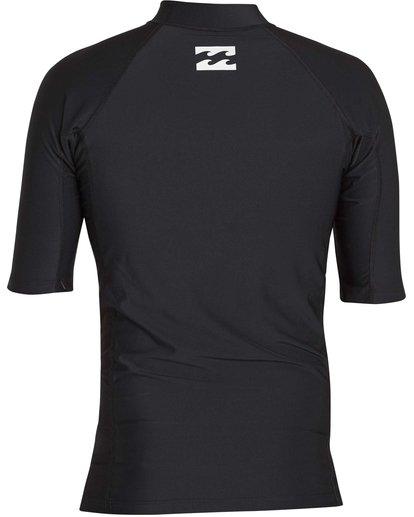 1 Boys' All Day United Performance Fit Short Sleeve Rashguard Black BR12NBAU Billabong
