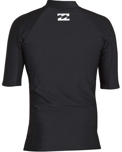 4 Boys' All Day United Performance Fit Short Sleeve Rashguard Black BR12NBAU Billabong