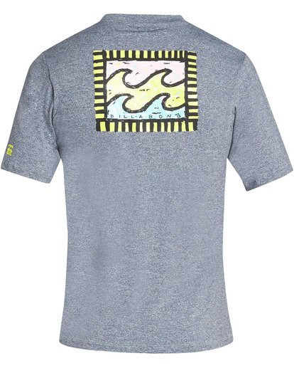 1 Boys' Nairobi Loose Fit Short Sleeve Rashguard Grey BR24TBNA Billabong