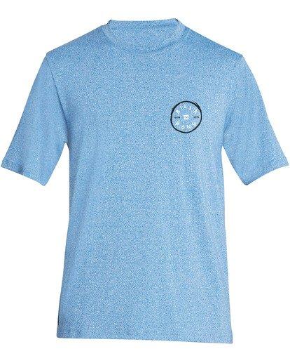 0 Boys' Rotohand Loose Fit Short Sleeve Rashguard Blue BR24TBRH Billabong