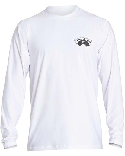 0 Boys' Dicer Ls Short Sleeve Rashguard White BR51NBDI Billabong
