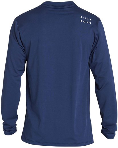 1 Boys' All Day Mesh Lf Ls Rashguard Blue BR53NBAM Billabong