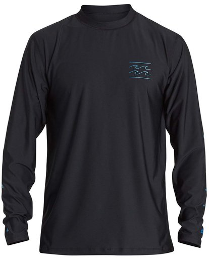 0 Boys' Unity Loose Fit Long Sleeve Rashguard Black BR55NBUL Billabong