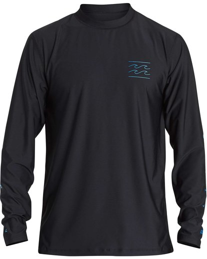 1 Boys' Unity Loose Fit Long Sleeve Rashguard Black BR55NBUL Billabong