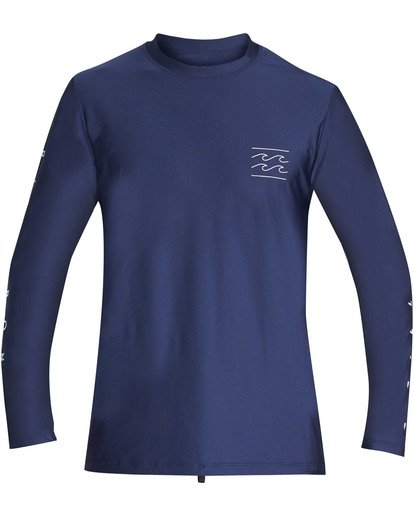 0 Boys' Unity Loose Fit Long Sleeve Rashguard Blue BR55TBUL Billabong
