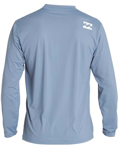 1 Boys' All Day Wave Loose Fit Long Sleeve Rashguard Blue BR57NBWL Billabong
