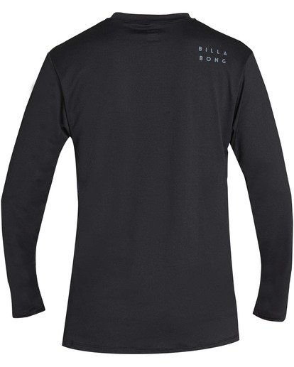 1 Boys' All Day Mesh Loose Fit Long Sleeve Long Sleeve Rashguard Black BR59TBAM Billabong