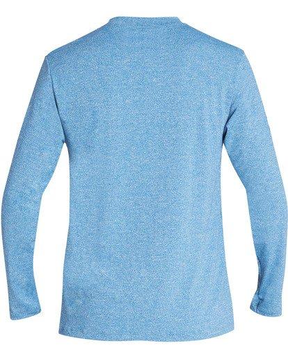 1 Boys' Surf Club Loose Fit Long Sleeve Rashguard Blue BR61TBSU Billabong