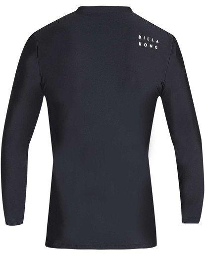 1 Boys' All Day Wave Loose Fit Long Sleeve Rashguard Black BR61TBWL Billabong
