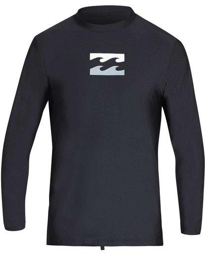 0 Boys' All Day Wave Loose Fit Long Sleeve Rashguard Black BR61TBWL Billabong